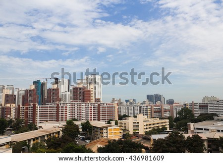 Housing Development board buildings at Singapore