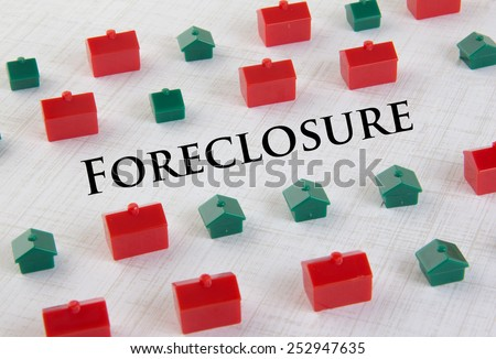 Housing market collapse and foreclosure concept - stock photo