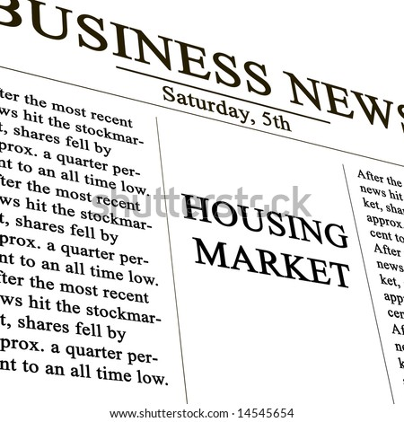 housing market in the news paper