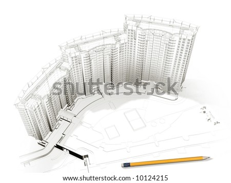 housing project - stock photo