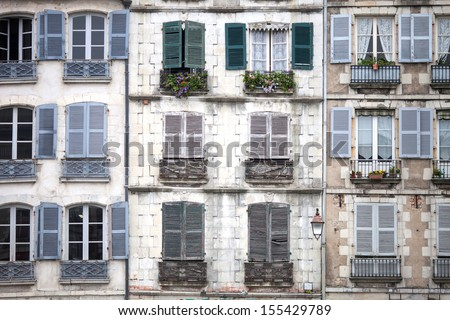 housings of the city of Bayonne  - stock photo