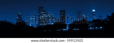 Houston at Night - stock photo