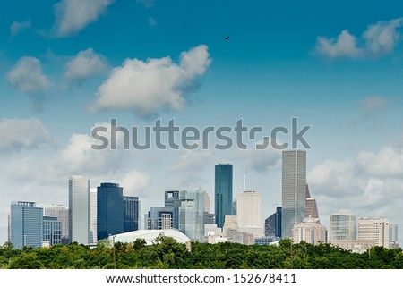 Houston, Texas. Skyline summer day - stock photo