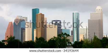 Houston Texas skyscrapers - stock photo