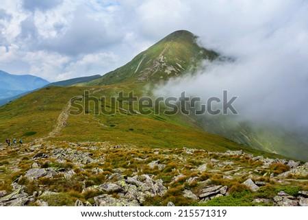 hoverla mount  ukraine carpathians - stock photo