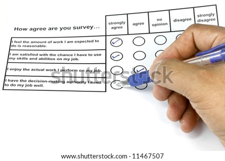 How Agree Are You Survey - business concept for management and human resources.