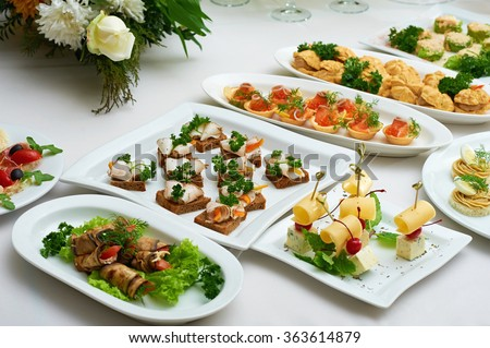 Catering service stock photos royalty free images vectors shutterstock - Book a restaurant table online ...