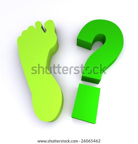 How green is your footprint?  3d rendered image