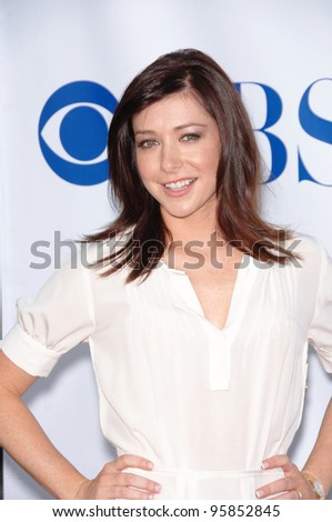 How I Met Your Mother star ALYSON HANNIGAN at the CBS Summer Press Tour Stars Party at the Rose Bowl in Pasadena, CA.  July 15, 2006  Pasadena, CA  2006 Paul Smith / Featureflash - stock photo