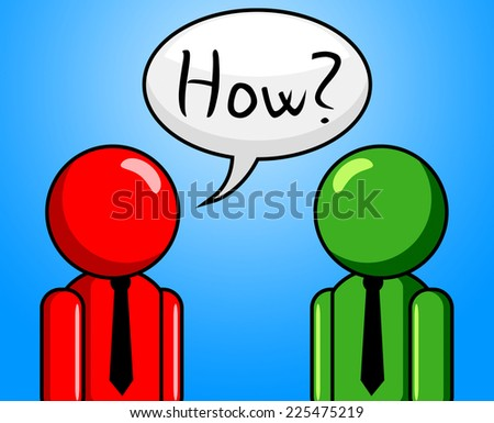 How Question Representing Frequently Asked Questions And Questioning Help - stock photo