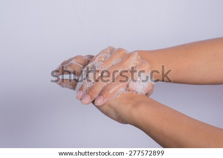 How to clean your hands. - stock photo