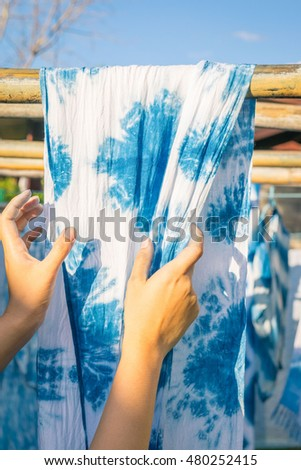 How to dyeing fabric with indigo color