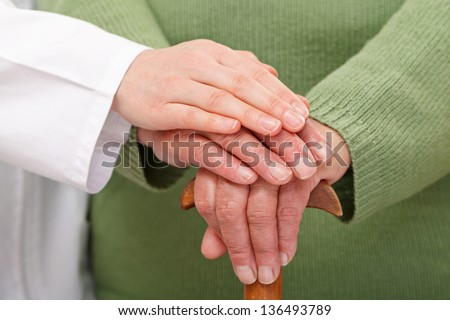 How to give the best care in elderly homes - stock photo
