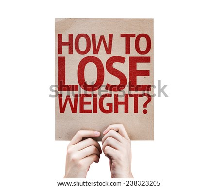 How To Lose Weight? card isolated on white background - stock photo
