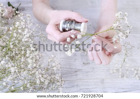 How make hanging wedding decoration using stock photo edit now how to make hanging wedding decoration using gypsophila paniculata twigs step by step tutorial junglespirit Gallery