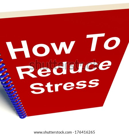 How to Reduce Stress on Notebook Showing Reducing Tension - stock photo