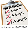 How to Survive Adapt Clipboard Checklist Advice - stock