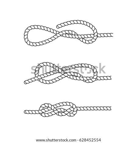How tie sea knot example nautical stock illustration 628452554 how to tie a sea knot example nautical rope knots marine rope knot ccuart Image collections