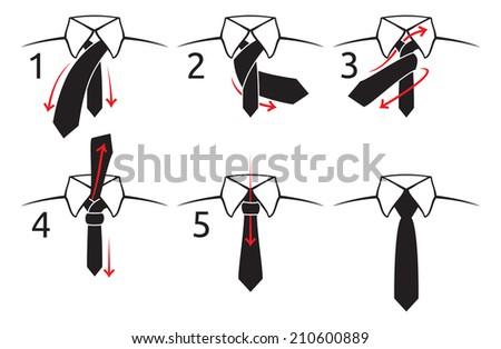 How to tie a tie - stock photo