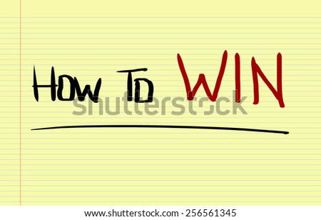 How To Win Concept - stock photo