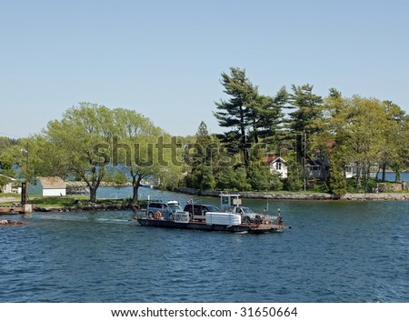 Howe Island Township Ferry, Mainland Ontario to Howe Island ON, Canada