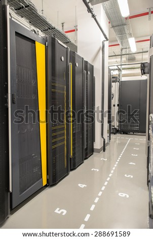HP Bulgaria revealed the new database laboratory in the HP headquarters in the Business park Sofia in Sofia, Bulgaria,April 29, 2015. The laboratory will be available for workers and scientists - stock photo