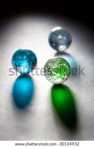 HQ concept glass planets