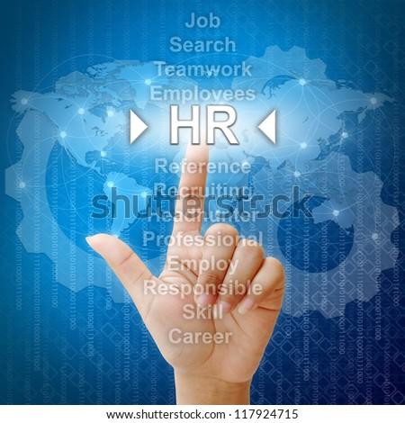 HR,Business concept in word for Human resources - stock photo