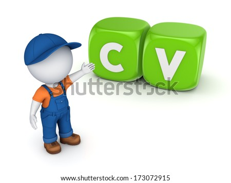 HR concept.Isolated on white.3d rendered. - stock photo