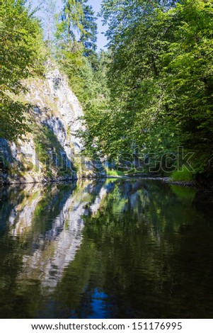 Hrdlo Hornadu, Slovak Paradise, Slovensky Raj National Park, Slovakia  - stock photo