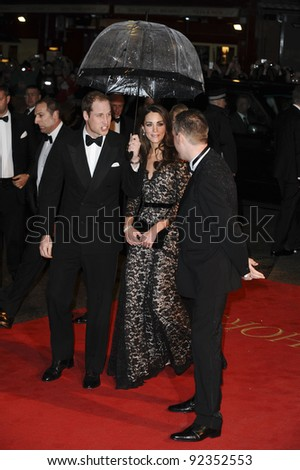 "HRH Prince William and Princess Catherine, Duchess of Cambridge arriving for the premiere of ""War Horse"" at the Odeon Leicester Square, London. 09/01/2012  Picture by: Steve Vas / Featureflash"