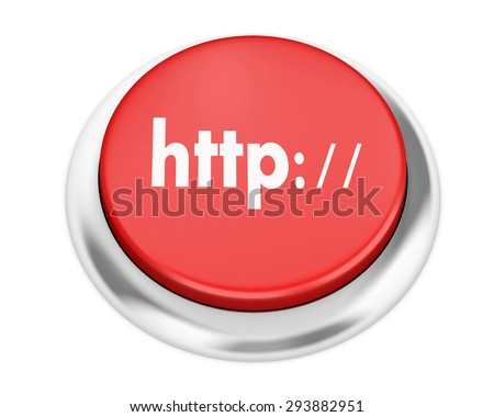 Http button on isolate white background - stock photo