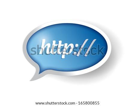 http internet bubble concept illustration design over a white background - stock photo