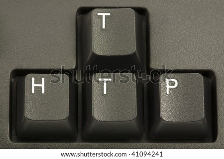 HTTP internet concept on a computer keyboard - stock photo