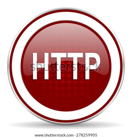http red glossy web icon - stock photo