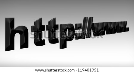 HTTP web  3d concept isolated white - stock photo