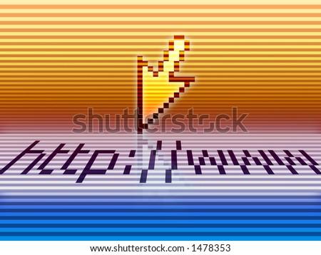 http://www (arrow 2) - stock photo