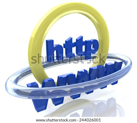 Http WWW - Internet abstraction  - stock photo