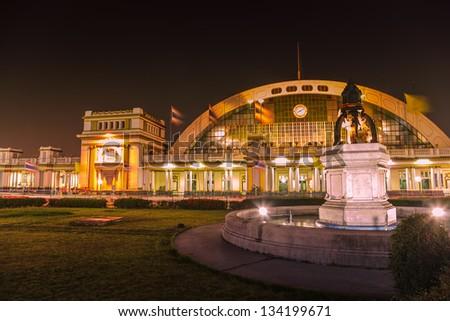 Hua Lamphong train station in Bangkok, Thailand. - stock photo