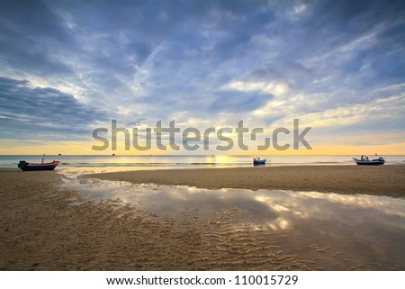 huahin beach, Thailand - stock photo