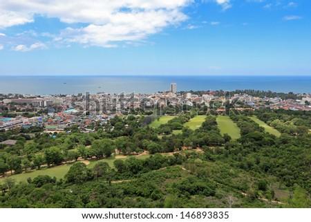 huahin city Thailand - stock photo