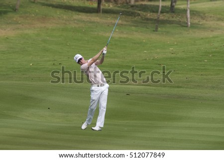HUAHIN, THAILAND-FEBRUARY 13: Matt Ford of England in action during Round 2 of 2015 True Thailand Classic on February 13, 2015 at Black Mountain Golf Club in Hua Hin, Thailand