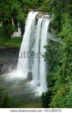 Huai Luang Waterfall in Ubon Ratchathani, Thailand - stock photo
