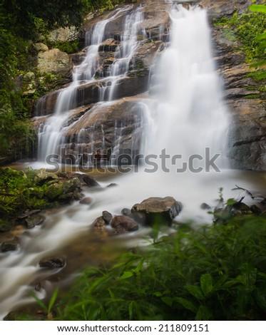 Huai Sai Lueang beautiful waterfall of chaing mai, thailand - stock photo