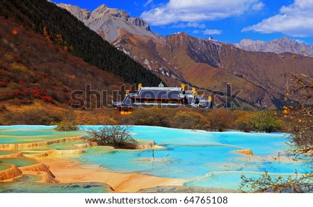 Huanglong Scenic and Historic Interest Area, China - stock photo