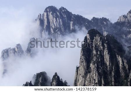 huangshan mountain china - stock photo