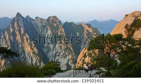 Huashan Mountain - stock photo