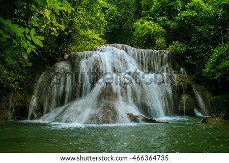 Huay Mae Khamin - Waterfall, Flowing Water, Paradise In Thailand