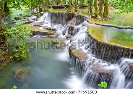 Huaymaekamin Waterfall - stock photo