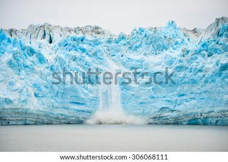Hubbard Glacier Calving - Natural Phenomenon, soft focus